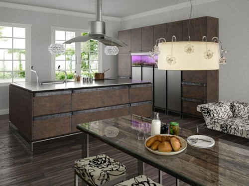 condo kitchen design ideas in rustic modern