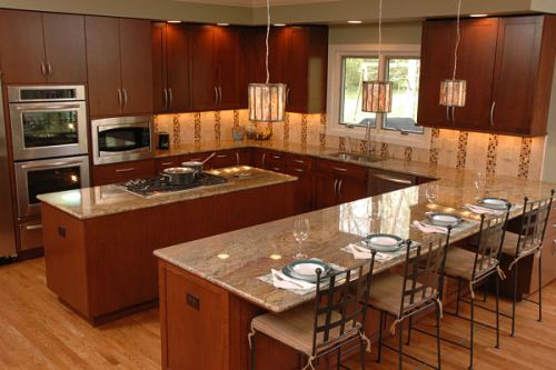 How to Design a Small U Shaped Kitchen in Brown