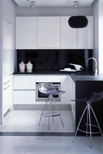 Beautiful Kitchen Design for Small Apartment