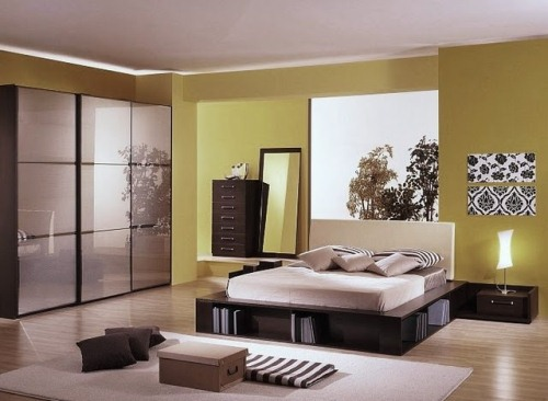 Modern Zen Master Bedroom in Yellow