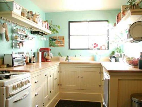 Small Kitchen Efficient Design with Bigger Feeling