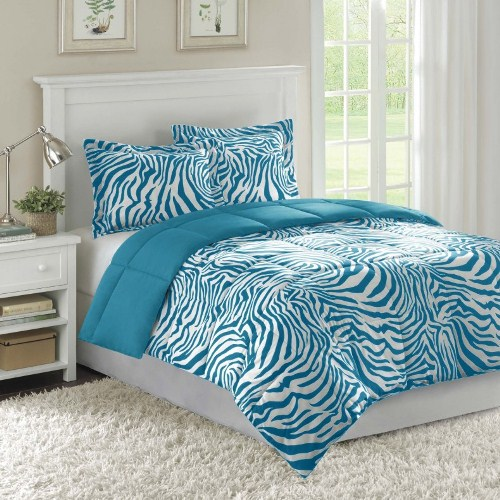 Zebra design bedroom ideas in Blue