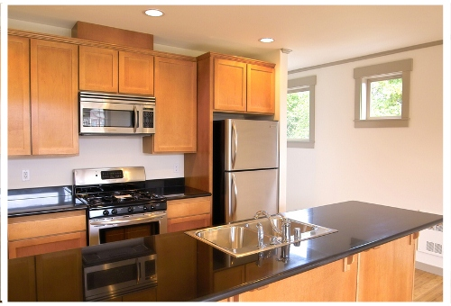 how to design a small l shaped kitchen cabinet