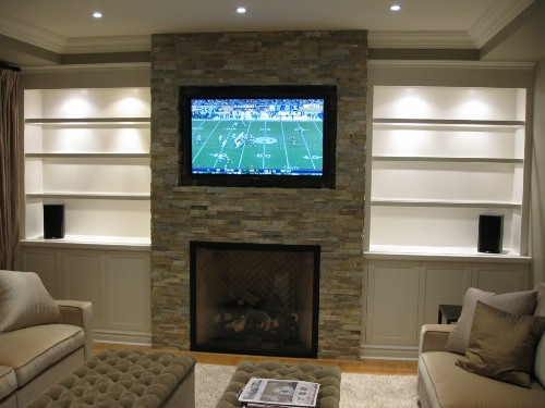 Ideas Mounting TV Over Fireplace
